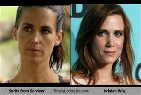 Sarita from Survivor Totally Looks Like Kristen Wiig