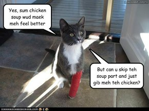 Teh chicken loses owt either way
