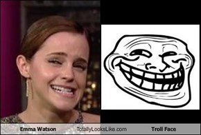 Emma Watson Totally Looks Like Troll Face