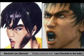 Marshall Law (Normal) Totally Looks Like Law (Punched in the balls)