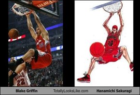 Blake Griffin Totally Looks Like Hanamichi Sakuragi