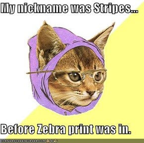 My nickname was Stripes...  Before Zebra print was in.