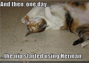 And then, one day...  ...the nip started using Herman.