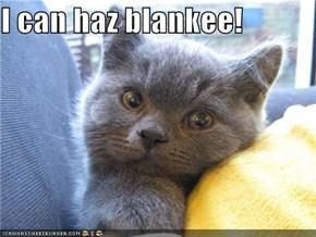 I can haz blankee!