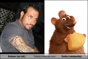 Robear (ny ink) Totally Looks Like Emile (ratatouille)