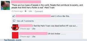 Mark Twain on Harry Potter