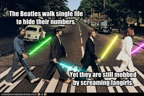 Not even Jedi can escape the fangirls.