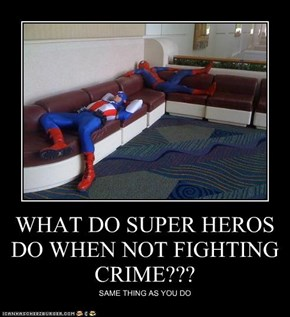 WHAT DO SUPER HEROS DO WHEN NOT FIGHTING CRIME???