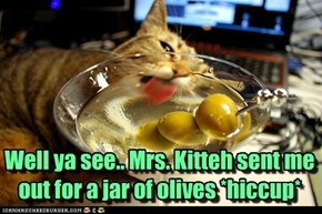 7 martinis Mr. Kitteh??