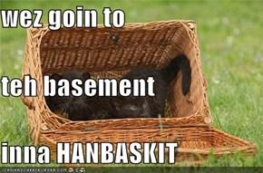 wez goin to teh basement inna HANBASKIT