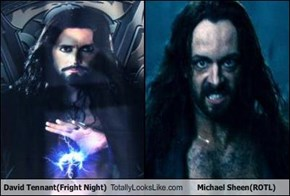 David Tennant(Fright Night) Totally Looks Like Michael Sheen(ROTL)