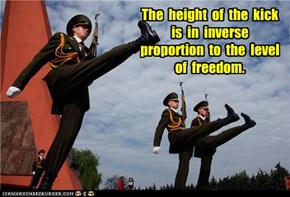 The  height  of  the  kick  is  in  inverse  proportion  to  the  level  of  freedom.