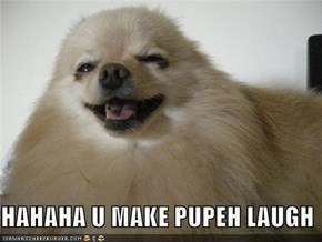 HAHAHA U MAKE PUPEH LAUGH