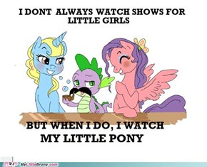 Spike is a brony too!