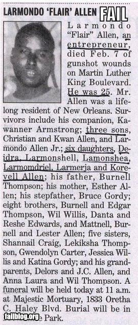 Obit Survivors Fail