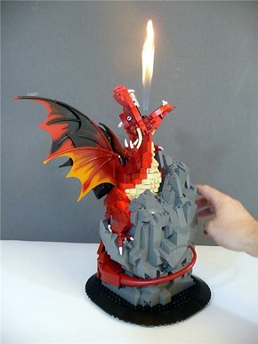 Firebreathing Lego Dragon of the Day