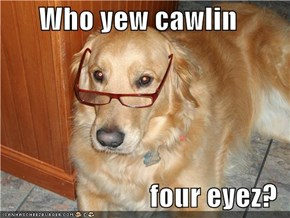 Who yew cawlin  four eyez?