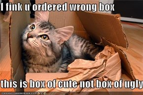 I fink u ordered wrong box  this is box of cute not box of ugly