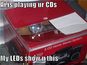 Ai is playing ur CDs  My LEDs show u this