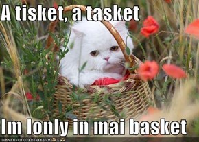 A tisket, a tasket  Im lonly in mai basket
