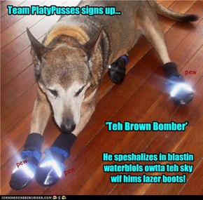 TPP signs up 'Teh Brown Bomber'