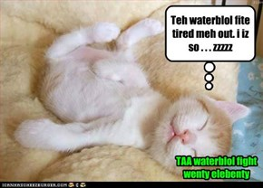 TAA waterblol fight wenty elebenty