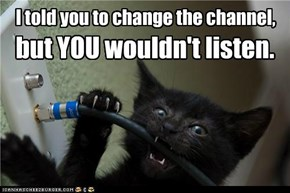 I told you to change the channel,