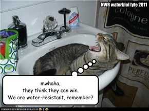 We are water-resistant, remember?