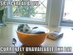SRY. CEREAL BOWL  CURRENTLY UNAVAILABLE THX BAI