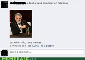 The most interesting facebook in the world