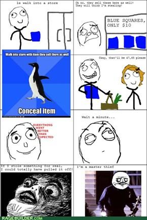 Awkward shopping