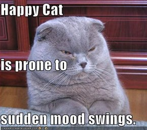 Happy Cat is prone to sudden mood swings.