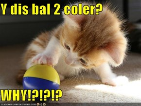 Y dis bal 2 coler?  WHY!?!?!?
