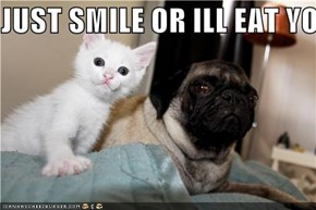JUST SMILE OR ILL EAT YOU