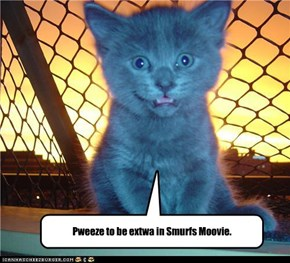 Pweeze to be extwa in Smurfs Moovie.