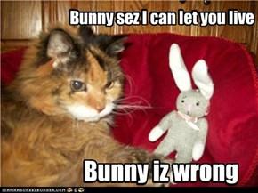 Sumtimes Bunny duzn't noes whut he'z talkin' bowt