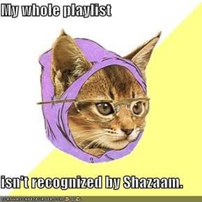 My whole playlist  isn't recognized by Shazaam.