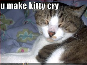 u make kitty cry
