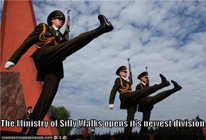 The Ministry of Silly Walks opens it's newest division...