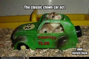 The classic clown car act.