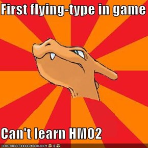 First flying-type in game  Can't learn HM02