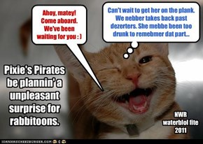 Pixie's Pirates be plannin' a unpleasant surprise for rabbitoons.