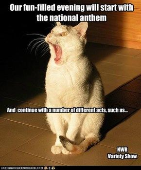 Our fun-filled evening will start with the national anthem