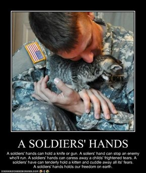 A SOLDIERS' HANDS