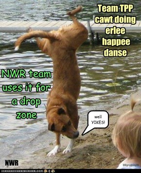 NWR team uses it for  a drop zone