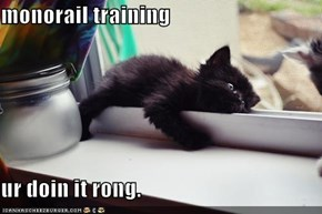 monorail training  ur doin it rong.