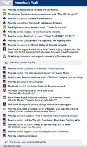 The USA on Facebook: From History to Today