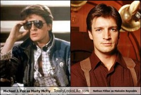 Michael J. Fox as Marty McFly Totally Looks Like Nathan Fillion as Malcolm Reynolds