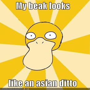 My beak looks   like an asian ditto