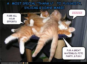"A   MOST SPECIAL ""THANK U""   TO  PUSSKIITY, SYLVIAG & DIANE MARIE"